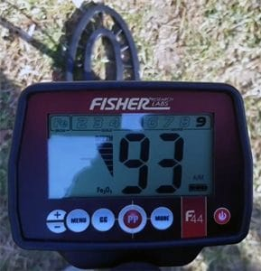 field testing the Fisher F44 metal detector
